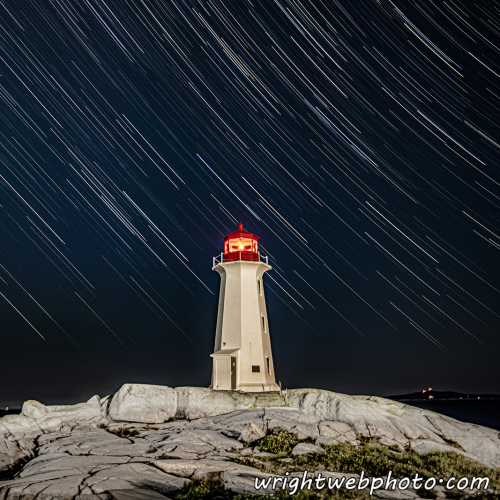 Milky Way Above the Rocks at Peggy's Cove