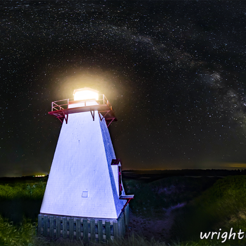 Milky Way Over St Peters Lighthouse PEI