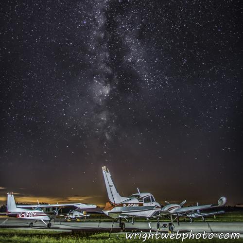 Milky Way Over Lindsay Airport