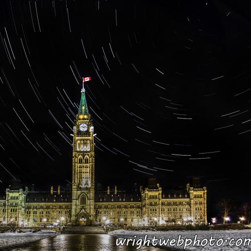 Stars Over Parliament. Ottawa ON