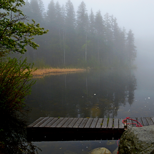 Silver Lake in the Mist