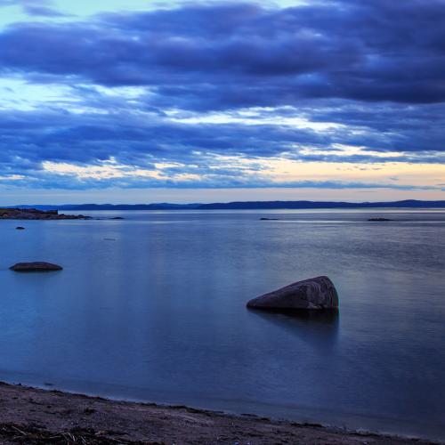 ÃŽle Verte lighthouse at dusk