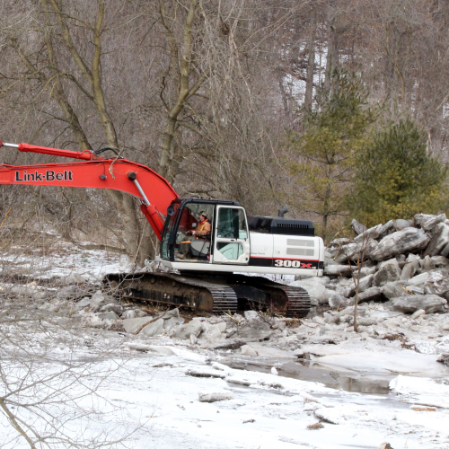 Clean up after massive flooding along the Humber River March 17/19