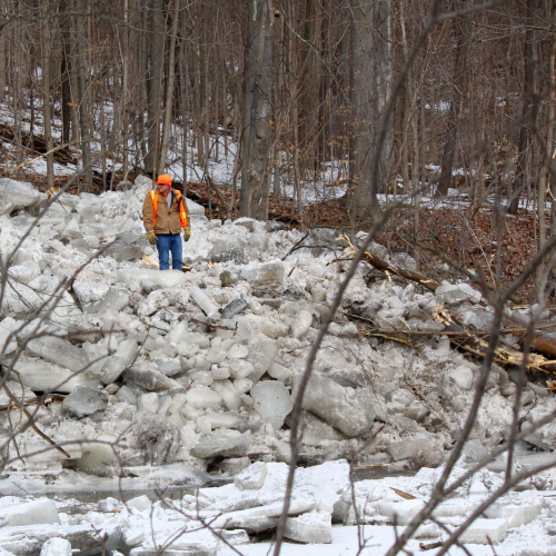 Assessing the cleanup after major flooding along the Humber River, downtown Bolton on March 17/2019