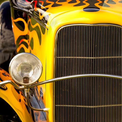 Colour Yellow Car a t ottawa capital Car Show