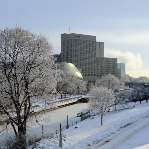 Along the Frosty Rideau Canal
