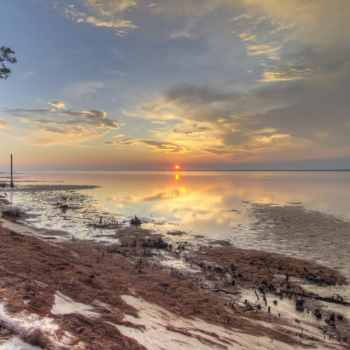 Sunset at St George Island on Apalachicola Bay