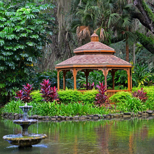 Gazebo at Washington Oaks Gardens