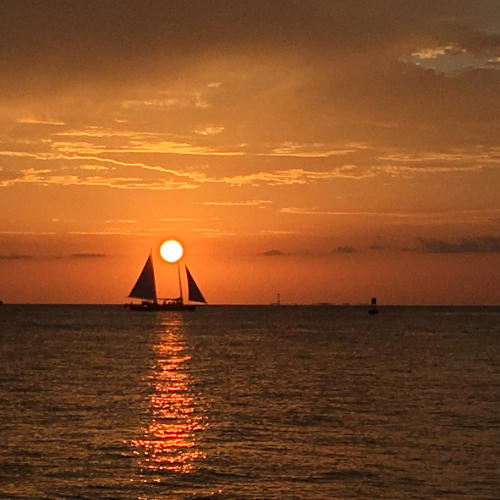 Sunset from Fort Zachary