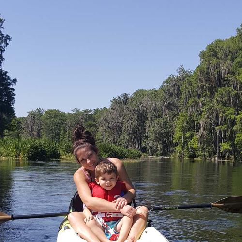 family time -  kayaking
