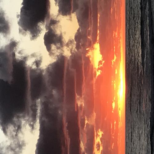 Sunset like fire