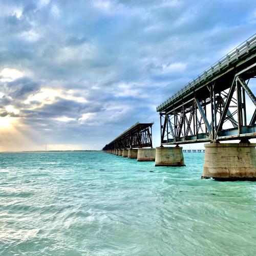 Bahia Honda Rail Bridge at Sunset