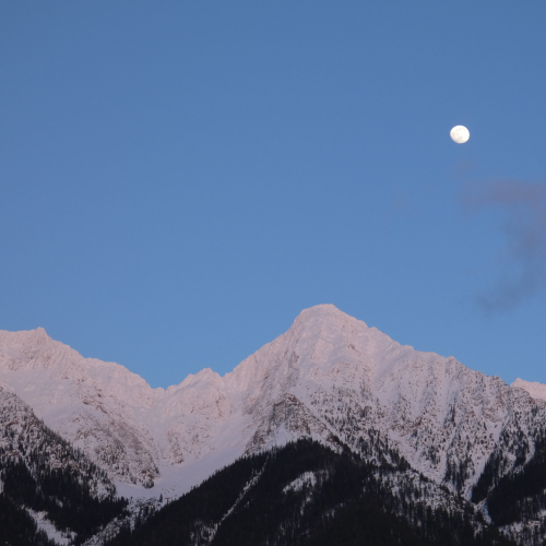 Moon over the Steeples Mountain Range